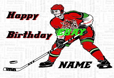 A5 Personalised Whitley Warriors Birthday Card PID150 Greeting Card Ice Hockey