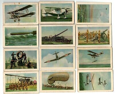 Allens Defence Series trade cards, lot of 12