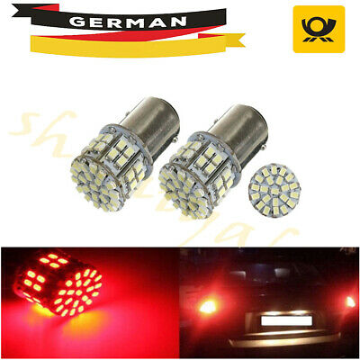 2x 1157 BAY15D 50 LED SMD P21/5W 380 Auto Bremse Schwanz Stop Lampe Lampe Rot