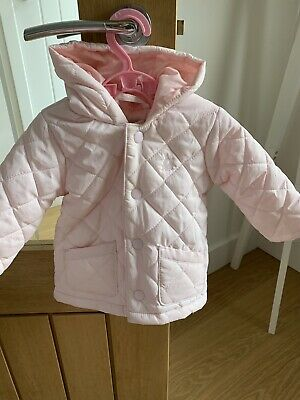 Baby Girls Pink Coat 3-6 Months United Colours Of Benetton
