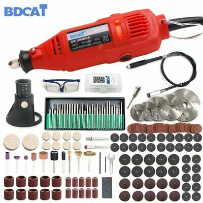 180W Mini Drill Electric Engraving Polishing Machine Grinder Power Rotary Kit