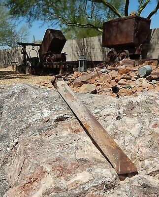 Vintage Bisbee, AZ Gold & Copper Miners Large Hand Driven Chisel 10 In. Drill
