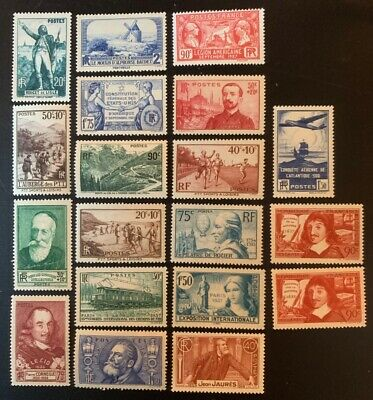 timbres france Lot 1936/37 Neuf* Charnieres Ou Sans Gomme - 19 Valeurs