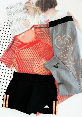 ADIDAS Climacool T-Shirt orange-rot & Shorts ♥ Gr.140-146-152 wNEU
