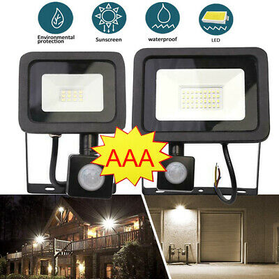 100-500W Outdoor LED Floodlight PIR Motion Sensor Flood Security Light Waterproo