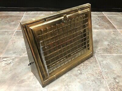 Vintage Metal Vent Grate Cover Heat Floor Register Victorian Brass/Gold #3