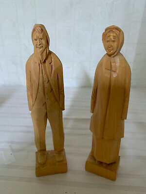 Vintage Quebec Wood Carved Figurines - TRYGG style