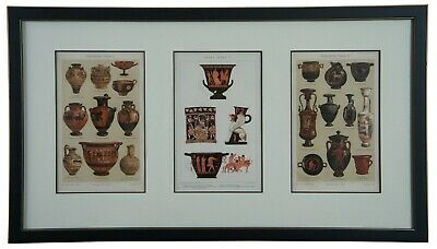 "Triptych ""Griechische Vasen"" aka Greek Vases Ancient Pottery Vessel Diagram"