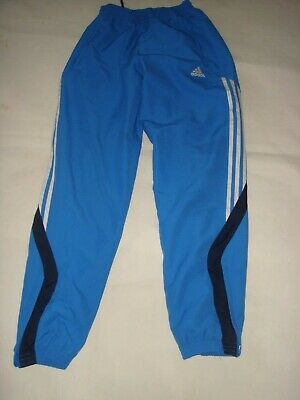 01 Adidas Cobalt Blue Mesh Lined Breathable Jogging Trousers Tracksuit Bottoms S
