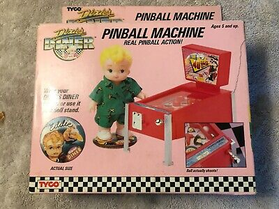 Vintage TYCO Dixie's Diner Pinball Machine with Eddie doll, 1989
