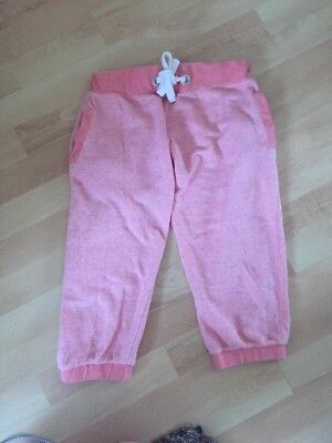 Girls Age 12-13 Years Jogging Bottoms Workoit Joggers Trousers Cropped Pink