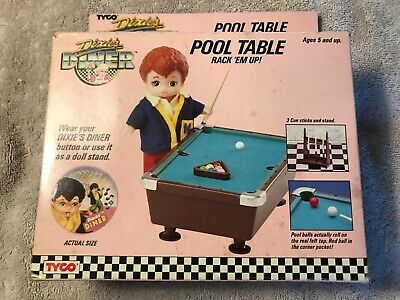 Vintage Tyco Dixie's Diner Pool Table W/Mitch Doll, 1989