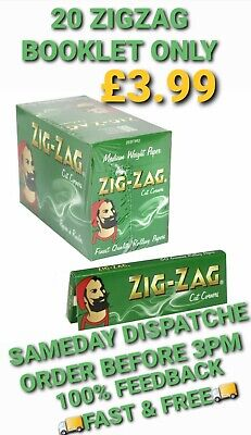 1000 Zig Zag Green Rolling Papers  20 Booklet 50 Paper Each Booklet Cheapest