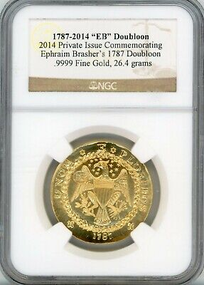 2014 EB Doubloon Private Issue for Brasher's 1787 Doubloon .999 Find Gold - NGC