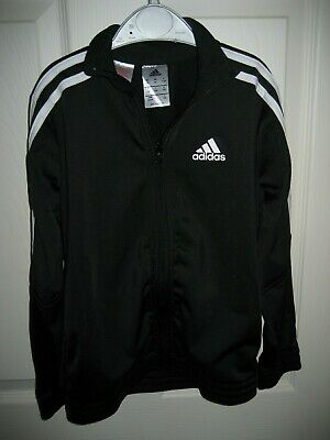 Adidas Boys - Girls Black Zip Up Jacket Size  7-8 Years