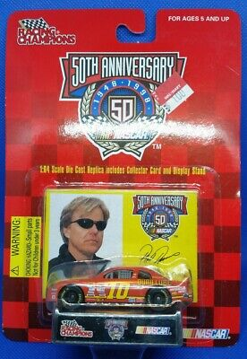 Phil Parsons #10 NASCAR 1:64 Scale Diecast Replica Car Collector Card Stand 1998