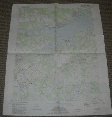 Frankford, Delaware USGS Topographic Map 1984 7.5 Minute Series
