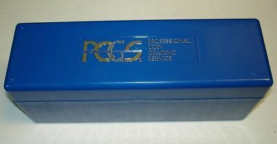 Blue Coin Storage Case Box Organizer Holds 20 Individual Certified PCGS NGC ICG