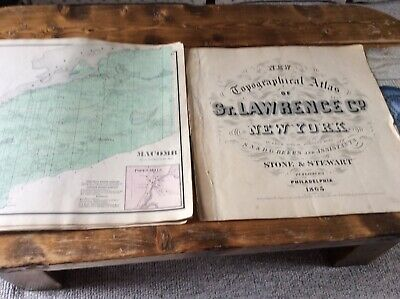 MACOMB NY Authentic Map  Disbound From 1865 Topographical Atlas  S & D Beers