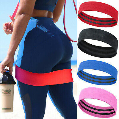 Resistance Bands Hip Circle Loop Rotation Glute Squat Elastic Exercise Fitness L