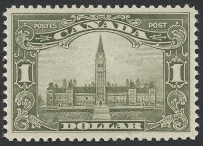 Canada #159 $1 Parliament - Scroll Issue, Mint XF OG Never Hinged