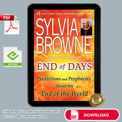 "🔥 End Of Days Predictions And Prophecies By Sylvia Browne  🔥Digital ""P.D.F"""