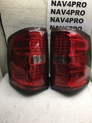 14-16 Chevy Silverado 1500 15-18 2500HD Sierra 3500 LED Tail Light Pair #T55