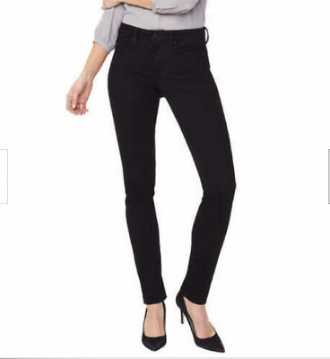 NYDJ Ladies Womens Alina Legging Skinny Jeans Size 12 Black