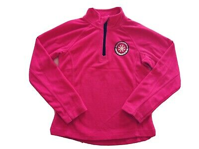 Crivit Girls Pink Tracksuit Top Sports Fleece Jumper Athletic Generation 7-8 Yrs