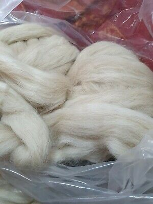 900gr Wool Xbred Rovings 35 Microns Felting  Spinning Flocking Stuffing Crafts