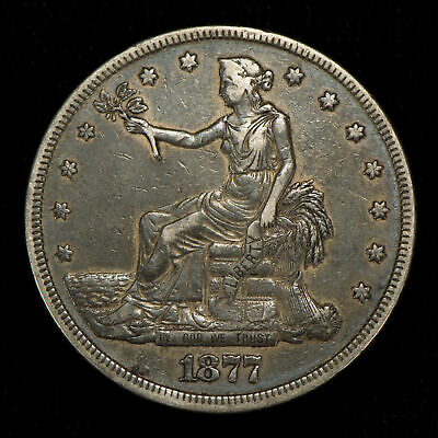 1877 $1 U.s. Silver Trade Dollar, Xf Lot#W344