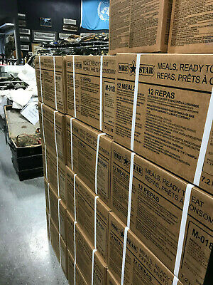 IN CANADA, READY TO SHIP! CASE of 12 Meals Ready to Eat Emergency MRE's - FRESH