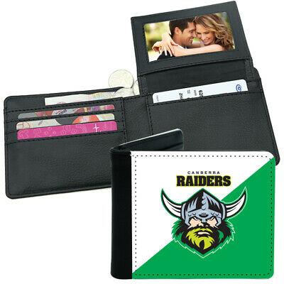 NRL Mens Wallet - Canberra Raiders - 12x10cm - Fits 10 Card + Notes