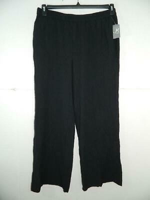 JM Collection Women's Plus Textured Wide Leg Pants Size 0X X 29 NWT RV $59 A1