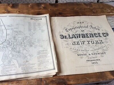 POTSDAM NY Authentic Map  Disbound From 1865 Topographical Atlas  S & D Beers
