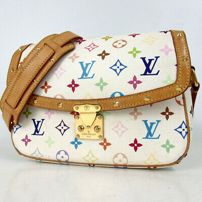 Authentic LOUIS VUITTON M92661 Monogram multi-colored sologne Shoulder Bag P...