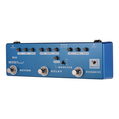 Guitar Multi Effects Pedal 5-in-1 Reverb Delay Overdrive Booster Buffer Mosky