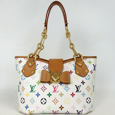 Authentic LOUIS VUITTON M40307 Monogram Multicolor Annie MM Shoulder Bag PVC...