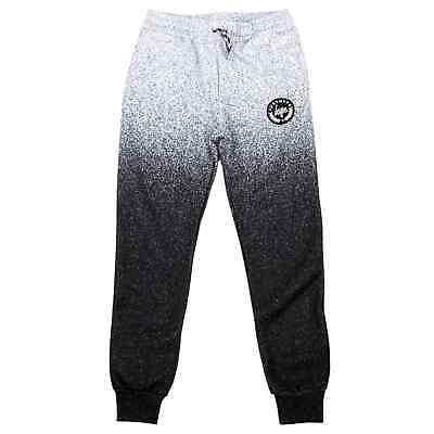 Hype Speckle Fade Kids Jogging Bottoms - White/Black