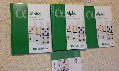 lot Math U See Alpha Addition & Subtraction Manual Tests Workbook teacher DVD
