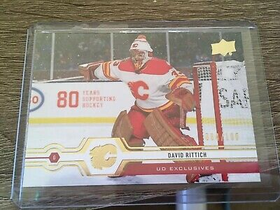 2019-20 DAVID RITTICH Upper Deck Series 2 084/100 EXCLUSIVES #431 Calgary Flames