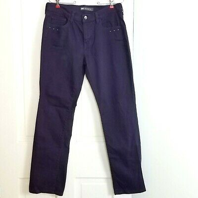Levis Womens 505 Jeans Straight Leg High Rise Studded Pants Purple Sz 10 Medium
