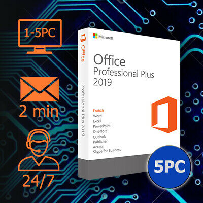 Office 2019 / 2016 / 2013 / 2010 Pro Plus - 32&64 bits - Lizenz per Email 1-5 PC