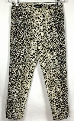 Estelle and Finn Womens Sz 4 Ankle Pants Side Zip Snake Skin Animal Print A9-13