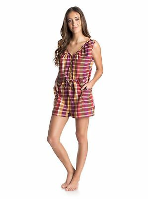 NWT Roxy Women's Dream Dreaming Romper Apricot Brandy Yellow Size Small