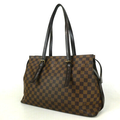 Authentic LOUIS VUITTON N51119 Damier Chelsea TH1023 Tote Bag PVC/leather[Used]
