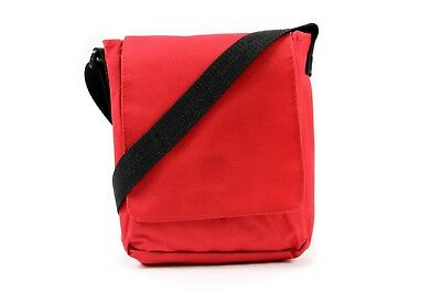 Red Cross Body Messenger Shoulder Bag Men Ladies Canvas Utility Travel Work Tote