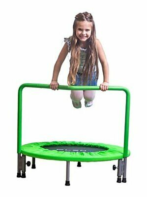 PLENY 36-Inch Kids Mini Trampoline with Handle, Safety and Durable Apple Green