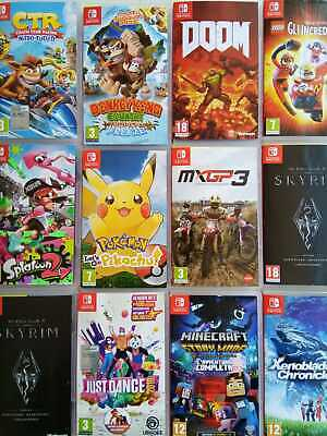 Switch Giochi Usati Splatoon Minecraft Pokemon Crash Doom Nintendo