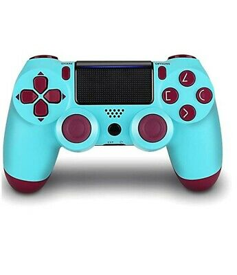 Wireless Controller for PlayStation 4, Dualshock 4 gamepad- BERRY BLUE